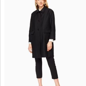 NWT Kate Spade Floral lace Trim coat